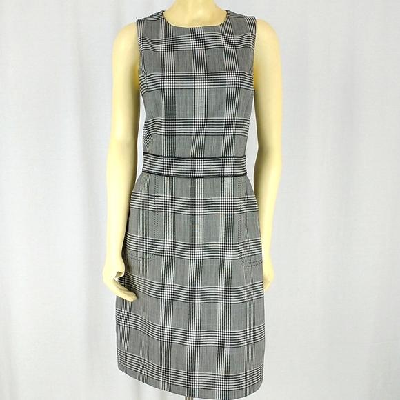 J McLaughlin plaid shift dress